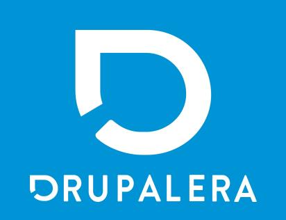 Drupalera vertical logo blue background