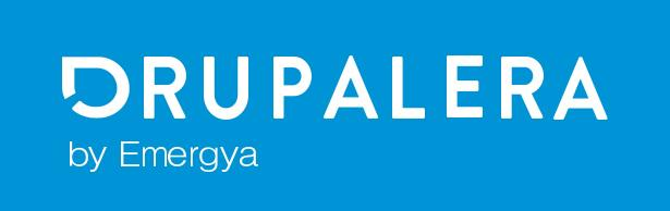 Drupalera by Emergya black and blue logo